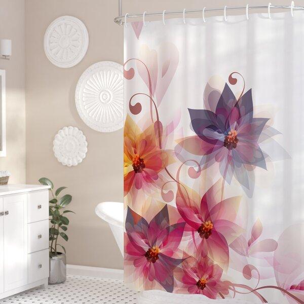 Gould Flowers Burt and Leaf Shower Curtain by Ebern Designs