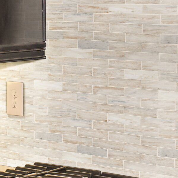 2 x 6 Natural Stone Mosaic Sheet Tile
