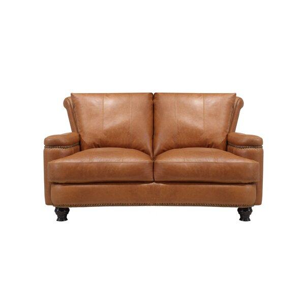 Deakin Leather Loveseat by Canora Grey