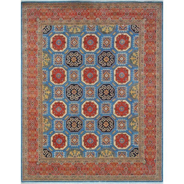 One-of-a-Kind Woodmoor Zahba Hand-Knotted Wool Blue Area Rug by Loon Peak