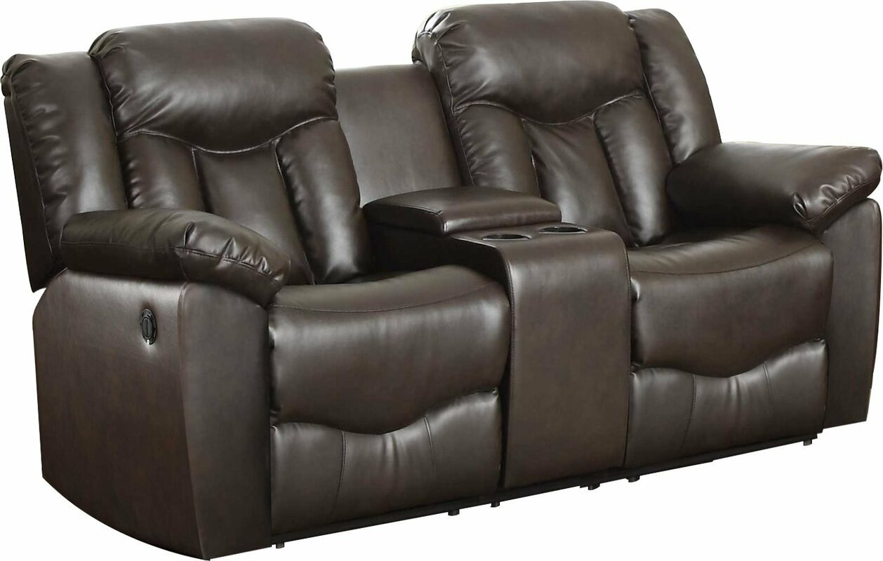 Recliner Sofa With Console Catosferanet