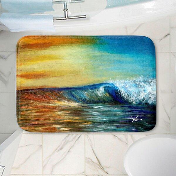 Corina Bakke's Ocean Wave Non-Slip Bath Rug