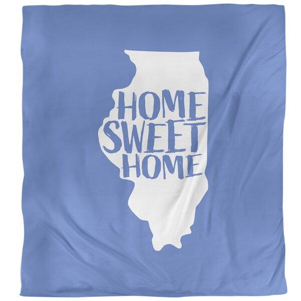 Illinois Home Sweet Single Duvet Cover