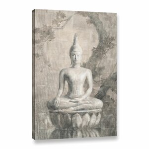 'Buddha Neutral'  Painting Print on Wrapped Canvas by World Menagerie
