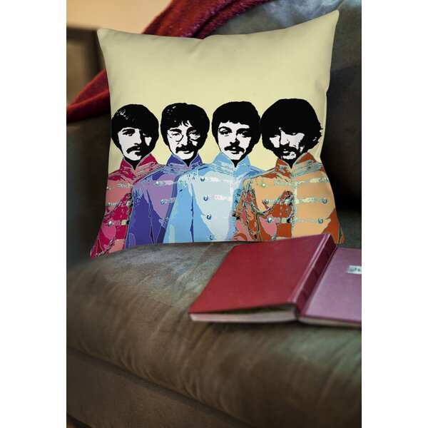 Sixties Legacy Printed Throw Pillow by Manual Woodworkers & Weavers