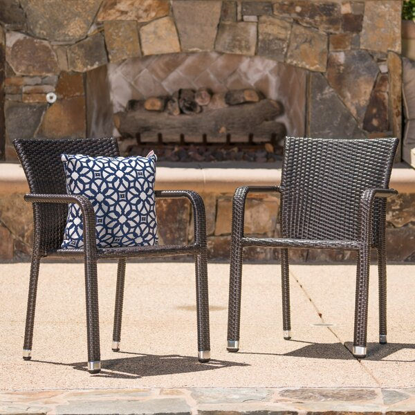 Wiersma Stacking Patio Dining Chair (Set of 2) by