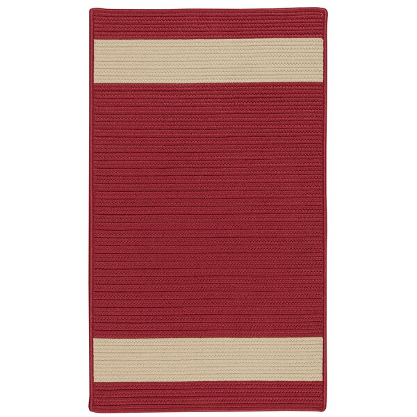 Sumrall Hand-Braided Red/Beige Indoor/Outdoor Area Rug by Bay Isle Home