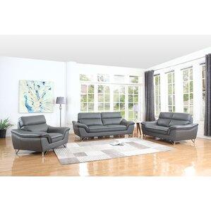 Hawks Upholstery 3 Piece Living Room Set By Orren Ellis - Discount