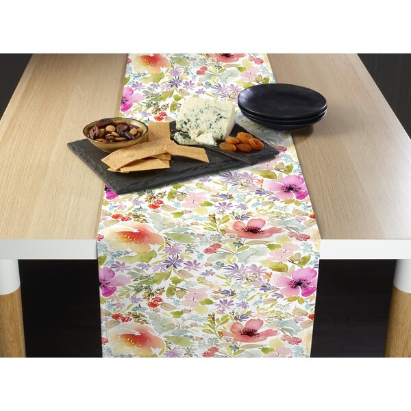 Milardo Botanical Garden Dogwood Table Runner by August Grove