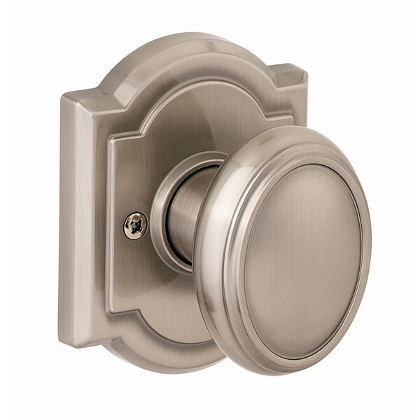 Carnaby Single Dummy Door Knob with Arch Rosette b