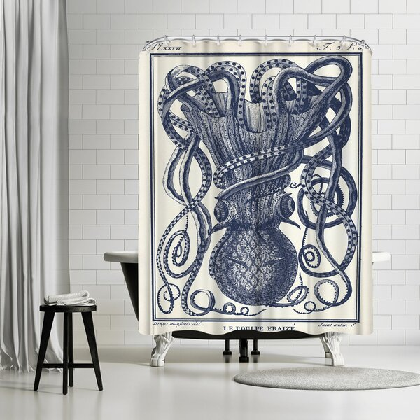 Adams Ale Tangles Tentacles Shower Curtain by East Urban Home
