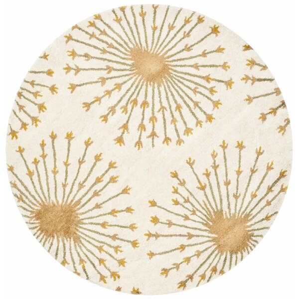 Mcguire Hand-Tufted Wool Beige/Gold Tribal Area Rug by Willa Arlo Interiors
