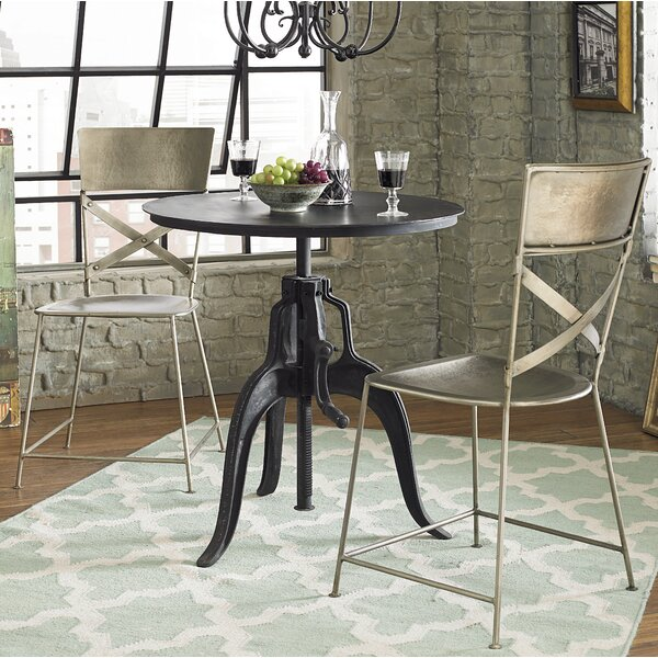 Hackett Metal Cross Back Side Chair In Antique Nickel (Set Of 2) By Williston Forge