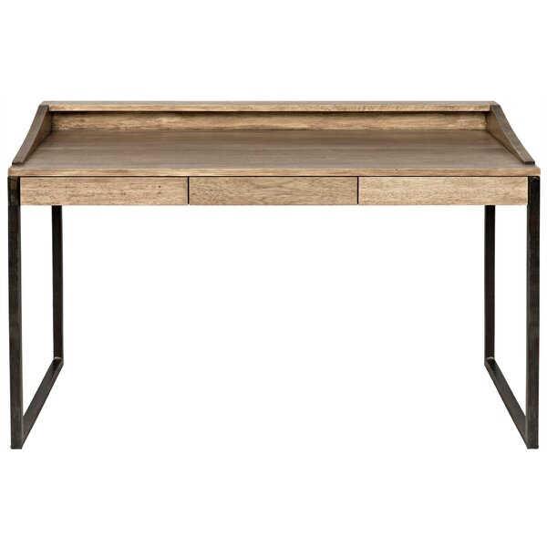 Ling Solid Wood Writing Desk