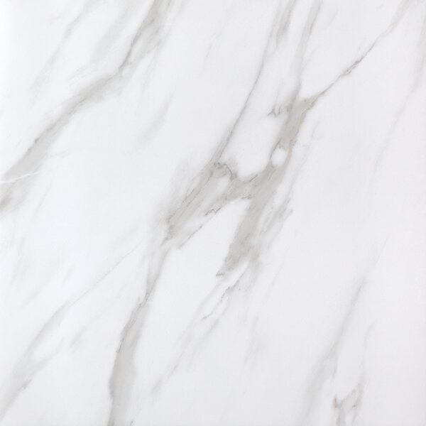 Calacatta Full Polished Glazed 24 x 24 Porcelain Field Tile in White by Multile