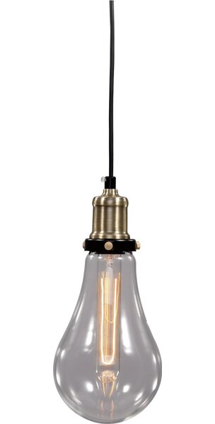 Brouillette 1-Light Bulb Pendant by Williston Forge