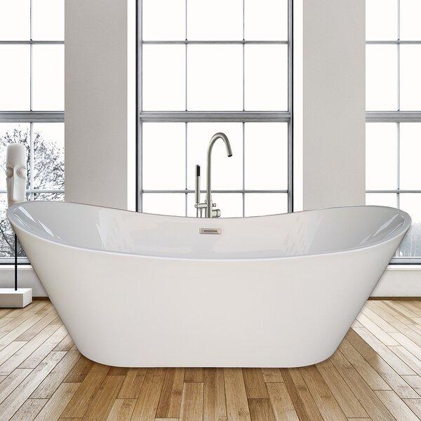 67 x 31.5 Freestanding Soaking Bathtub by WoodBridge