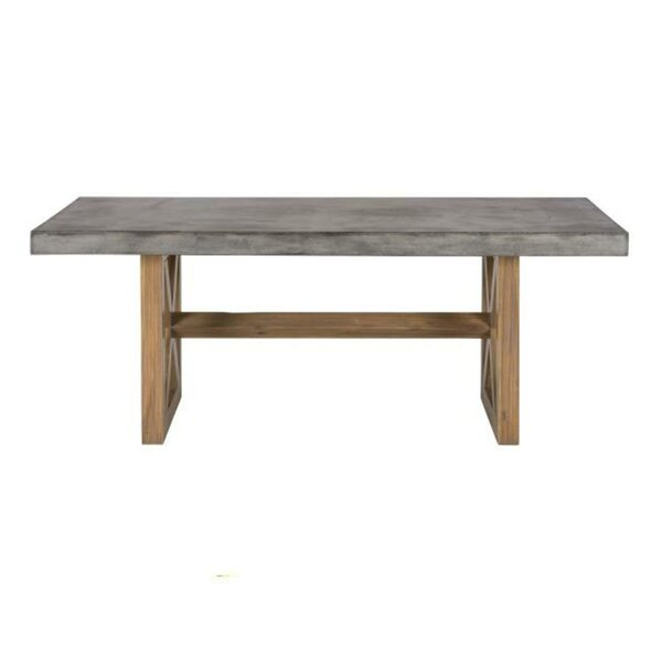 Aanya Countryside Wooden Base Dining Table by Williston Forge