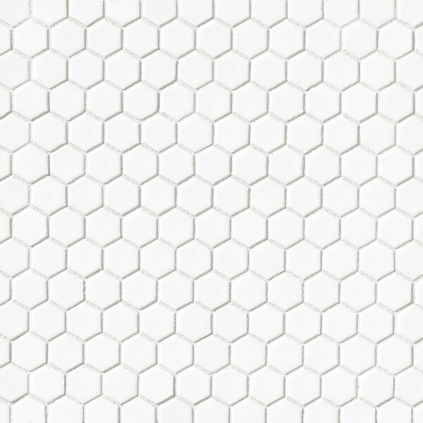 Hex 1 x 1 Porcelain Mosaic Tile in White by Grayson Martin