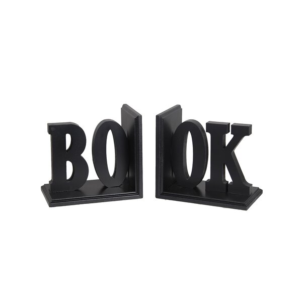 Book Wooden Bookend by Darby Home Co