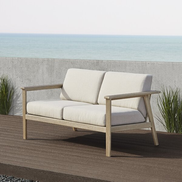 Speer Loveseat with Cushions by Real Flame