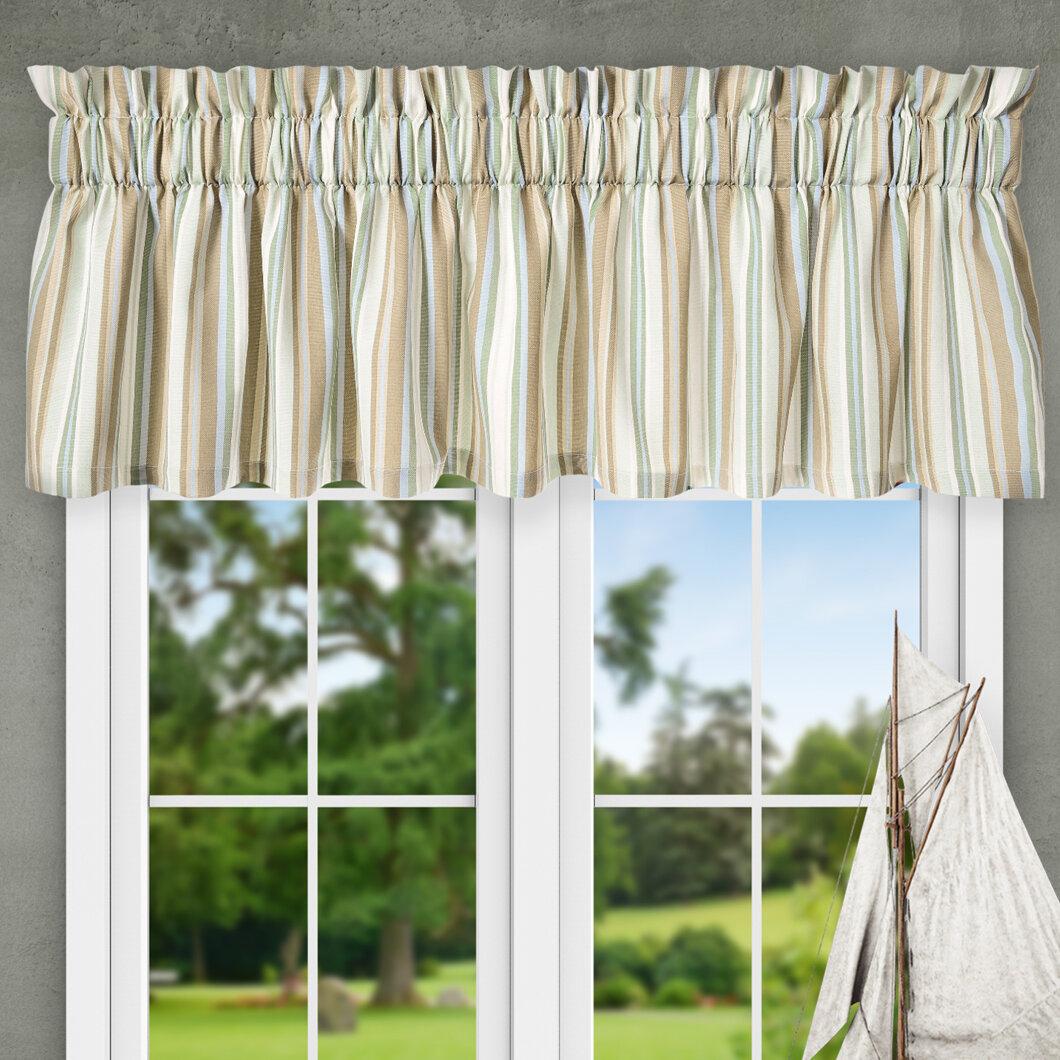 Ellis Curtain Jaden Stripe Tailored 80 Valance Reviews Wayfair