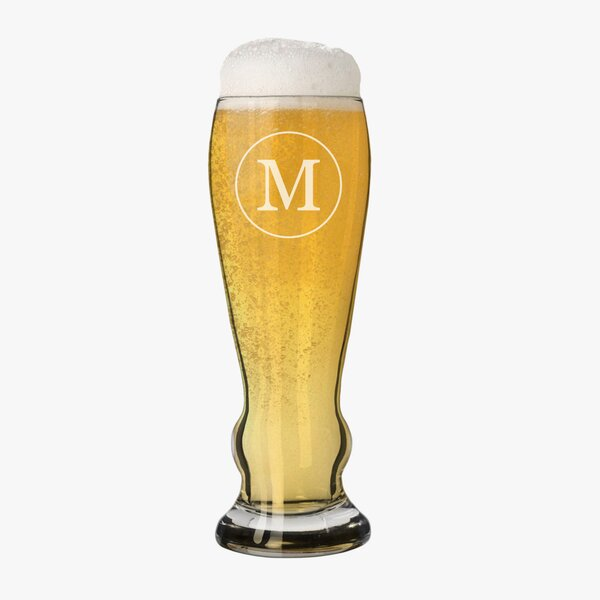 Jacoby Single Initial Custom 11 oz. Beer Glass by Alcott Hill