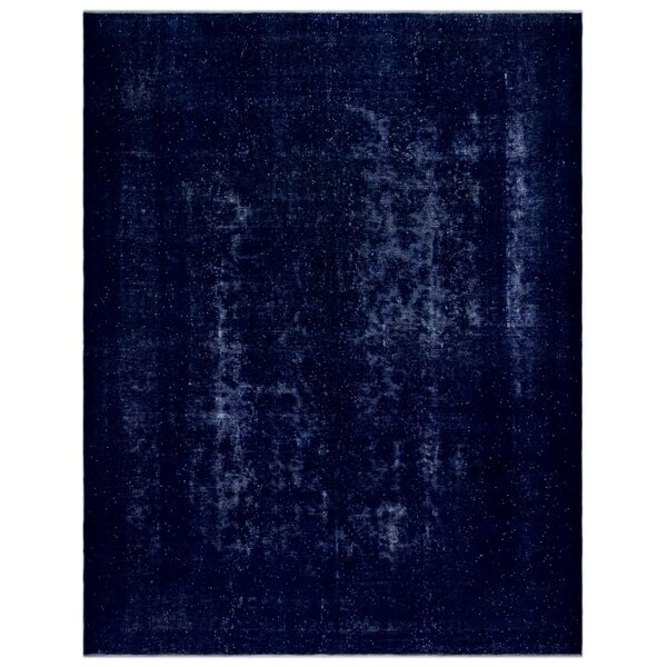 One-of-a-Kind Hand-Knotted 1960s Blue 9'8 x 12'5 Area Rug