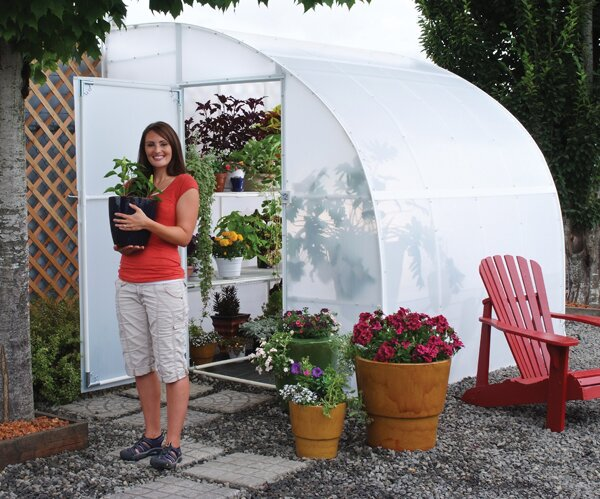 Harvester 8 Ft. W x 12 Ft. D Lean-To Greenhouse by Solexx
