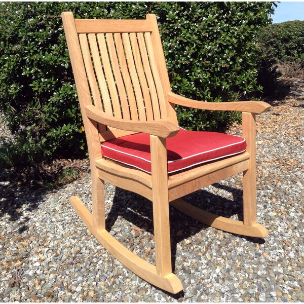 Allan Roblewood Rocker Chair with Cushion by Breakwater Bay