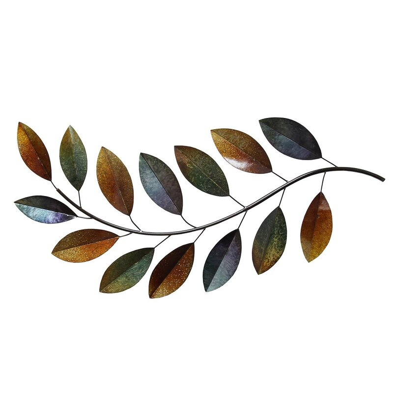 Metal Leaves Wall Decor stratton home decor metal leaves wall décor & reviews | wayfair