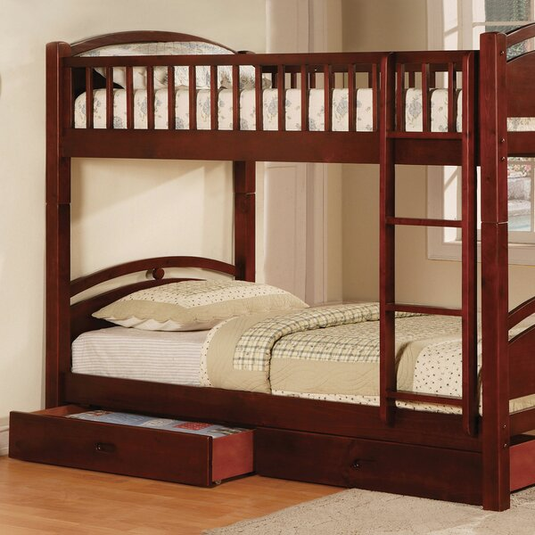 Rodarte Twin over Twin Bunk Bed with Drawers by Harriet Bee