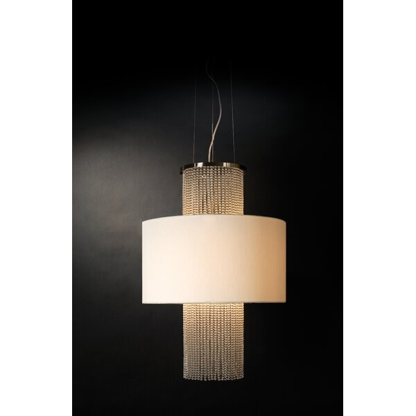 Keil 3 - Light Unique / Statement Tiered Chandelier with Crystal Accents by House of Hampton House of Hampton