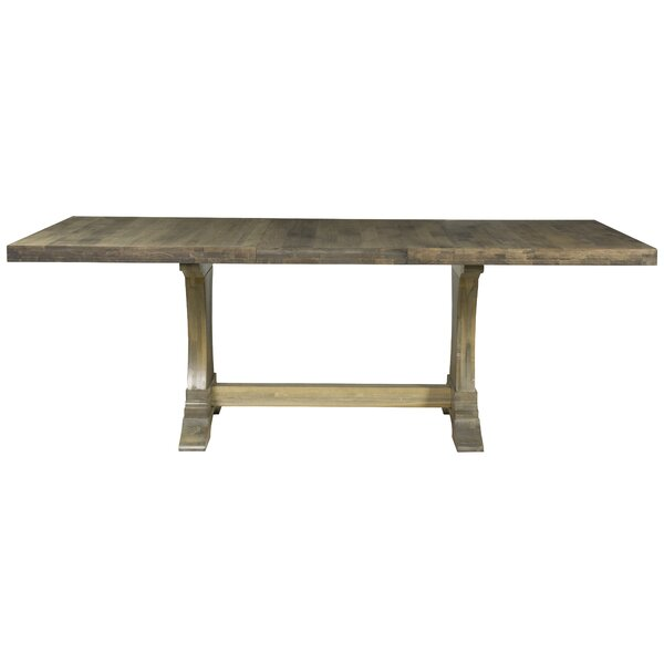 Augusto Maple Extendable Solid Wood Dining Table by One Allium Way One Allium Way