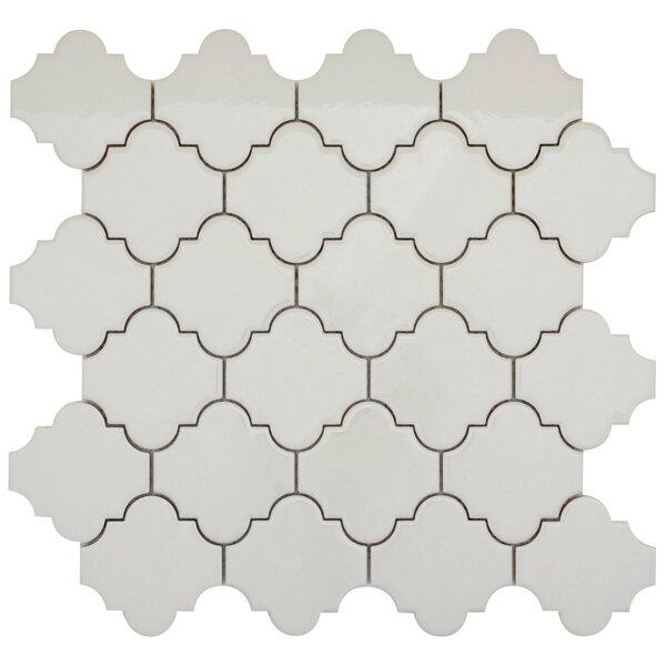 Vogue Lantern 3 x 3 Porcelain Mosaic Tile in Matte Gray by Emser Tile