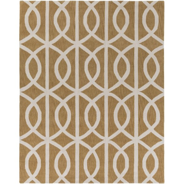 Gingrich Tan & Ivory Area Rug by Ivy Bronx