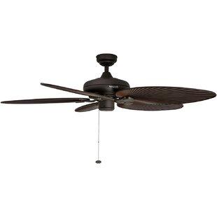 Ceiling fans with palm blades wayfair 52 island palm 5 blade ceiling fan aloadofball Choice Image