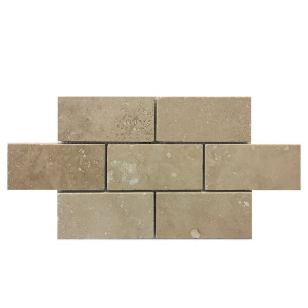 Honed 2 x 4 Natural Stone Mosaic Tile in Brown by QDI Surfaces