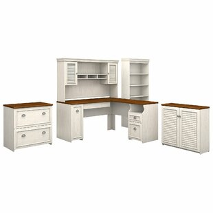 Oakridge 5 Piece L-shaped Desk Office Suite By Beachcrest Home