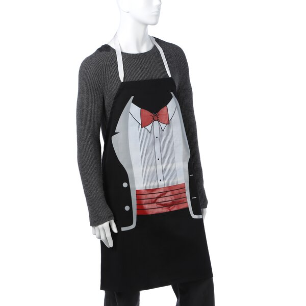 Tuxedo Apron in Black by Attitude Aprons by L.A. Imprints
