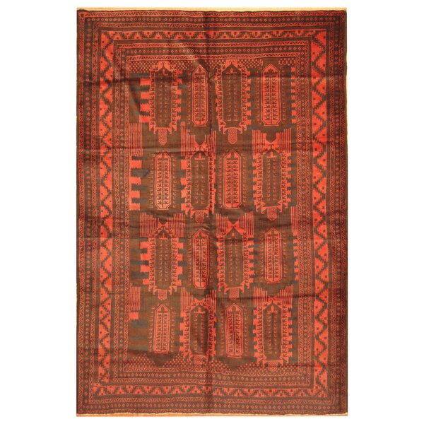 One-of-a-Kind Prentice Hand-Knotted Wool Red Area Rug by Isabelline