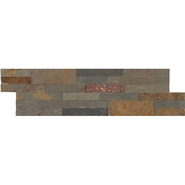 Gold Rush Veneer Peel and Stick Natural Slate MosaicTile in Gray by MSI