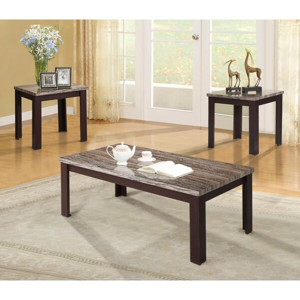 Monga Coffee and End Table Set (Set of 3) by Ebern Designs