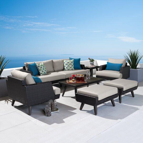 Winnie 7 Piece Sunbrella Sofa Seating Group with Cushions by Breakwater Bay