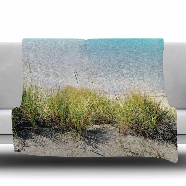 Dune Grass Fleece Throw Blanket by East Urban Home