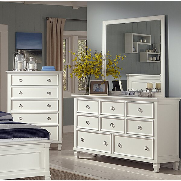 Jarvis 8 Drawer Dresser with Mirror by Alcott Hill