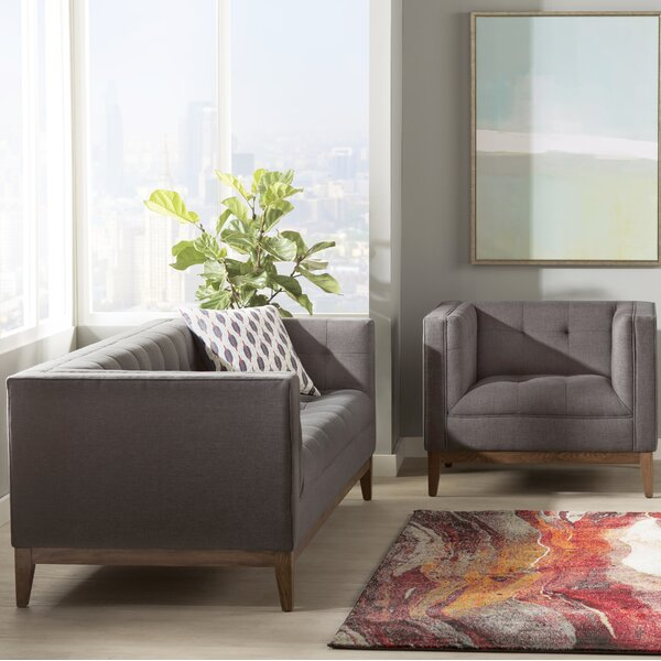 Ramey Linen 2 Piece Living Room Set by Wade Logan