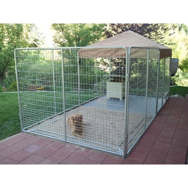 Alicia Galvanized Steel Yard Kennel by Tucker Murphy Pet