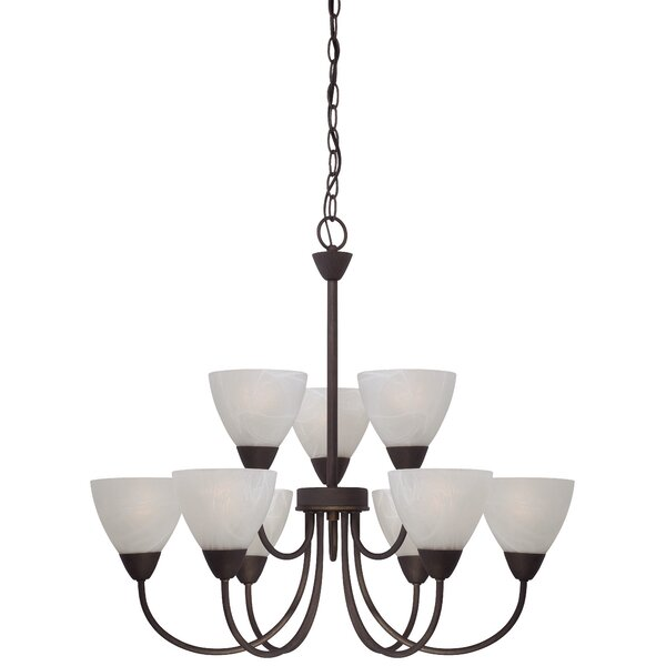 Sheldrake 9-Light Shaded Chandelier by Andover Mills