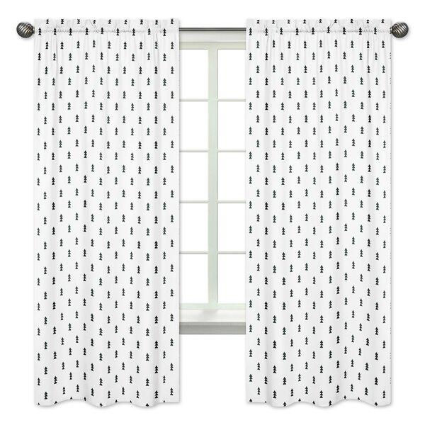 Bear Mountain Wildlife Rod Pocket Window Curtain Panels (Set of 2) by Sweet Jojo Designs